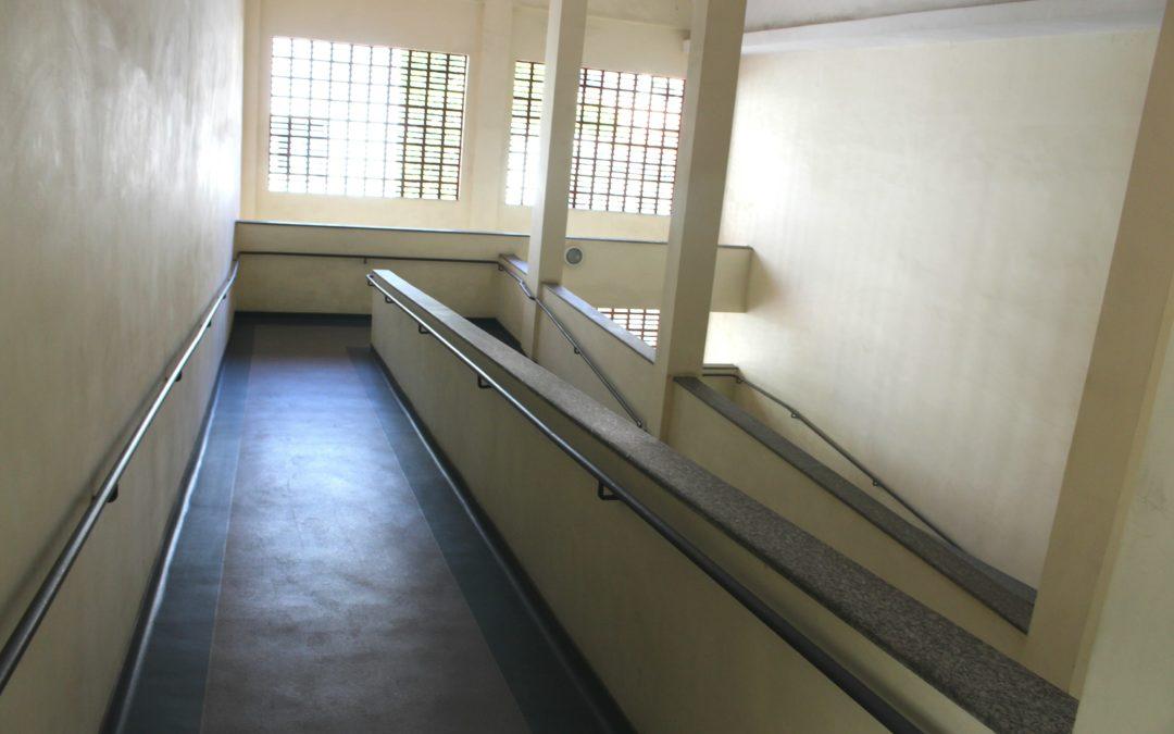 Rampas de acesso aos 2° e 3° andares