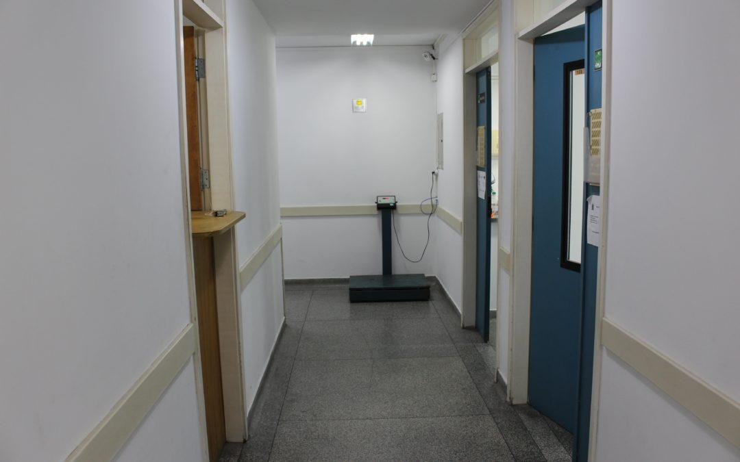 Corredor de acesso aos Ambulatórios 1 e 2
